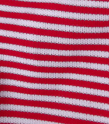 RED WHITE striped fabric Vintage dress material Tubular knit Pirate Sailor suit